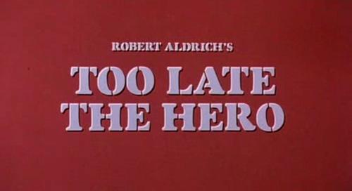 Too Late The Hero title screen