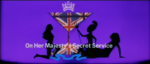 On Her Majesty's Secret Service title screen